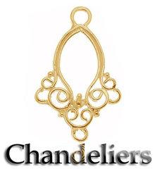 Chandeliers- Verguld