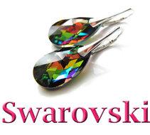 Zilveren-Oorbellen-&-Oorstekers-met-Swarovski-Kristallen--Zilver-Gerhodineerd-en-Verguld