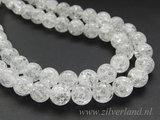12mm Bergkristal Kralen/ Snowflake_