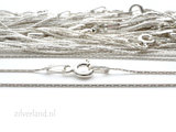 0,65mm Sterling Zilveren Collier Cardano- 45cm_