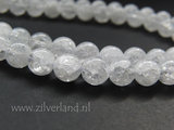8mm Bergkristal Kralen/ Snowflake_