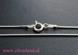0,90mm Sterling Zilveren Slangencollier- 50cm_