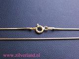 0,90mm Sterling Zilveren Slangencollier- 45cm- Verguld_