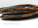 20cm Gestikt 4mm Leerkoord- Snake_