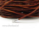 1 Meter Rond 1mm Leerkoord- Cognac_