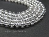 6mm Bergkristal Edelstenen Kralen- A Kwaliteit, Facet_