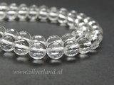 8mm Bergkristal Edelstenen Kralen- A Kwaliteit, Micro Facet_