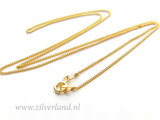 1,0mm Sterling Zilveren Collier Gourmet- 45cm- Verguld_
