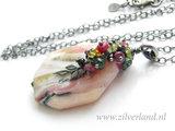 Zilveren Ketting met Roze Opaal