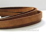 20cm Plat Leerkoord Vintage- Donkerbruin_
