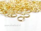 10 Stuks 1,0x7,0mm Sterling Zilveren Montageringen- Verguld_