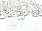 10 Stuks 1,0x8,0mm Sterling Zilveren Montageringen_