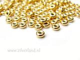 10 Stuks 4,5mm Sterling Zilveren Kralen- Verguld_