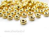 10 Stuks 5,5mm Sterling Zilveren Kralen- Verguld_