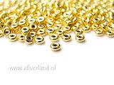 10 Stuks 3,50mm Sterling Zilveren Kralen- Verguld_