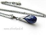 Handgemaakte Zilveren Ketting met Lapis Lazuli_