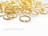 10 Stuks 1,0x10mm Sterling Zilveren Montageringen- Verguld_