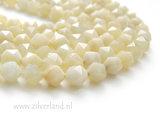 8mm Witte Maansteen Edelstenen Kralen- Facet_
