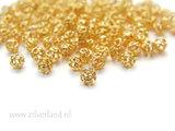 10 Stuks 4mm Sterling Zilveren Kralen- Verguld_