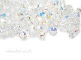 10 Stuks 4mm Swarovski Bicone Kristallen- Crystal AB_