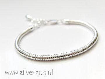 3mm Sterling Zilveren Slang Armband