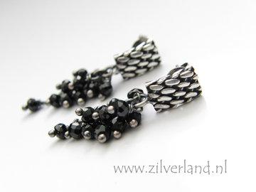 Handgemaakte Zilveren Oorstekers met Spinel