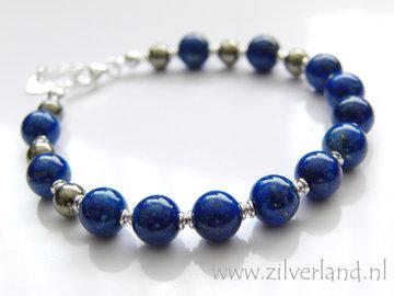 Handgemaakte Zilveren Armband met Lapis Lazuli