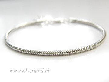 2,4mm Sterling Zilveren Slang Armband