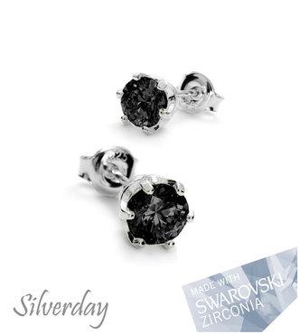 Sterling Zilveren Oorstekers met Swarovski Zirconia