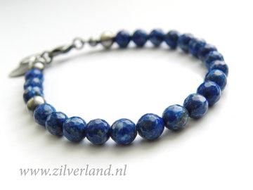 Handgemaakte Edelstenen Armband met Lapis Lazuli