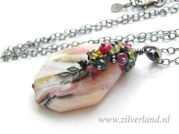 - Handgemaakte Zilveren Ketting met Peruaanse Roze Opaal