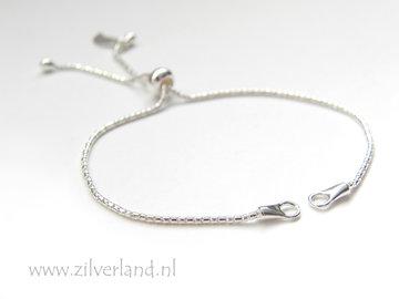 Sterling Zilveren Armband met Stopper met Siliconen Binnenring