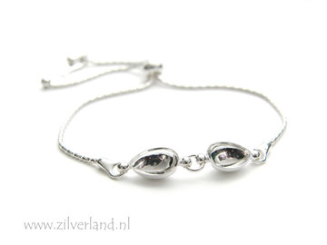 Sterling Zilveren Armband voor UV Resin of 10mm Swarovski Druppels
