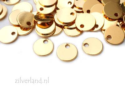 10 Stuks 6mm Sterling Zilveren Hangertje, Sieraden Bedeltje- Verguld