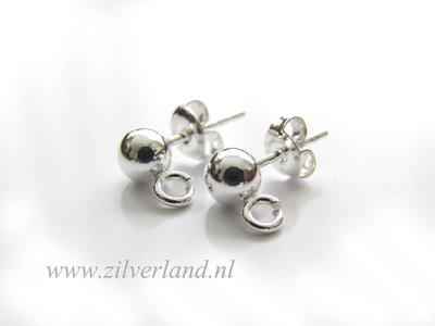 Sterling Zilveren Oorstekers 5mm