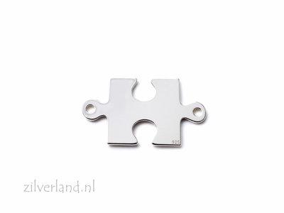 Sterling Zilveren Connector- Puzzelstuk