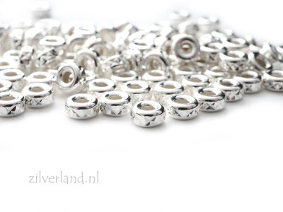 10 Stuks 4mm Sterling Zilveren Kralen- Facet