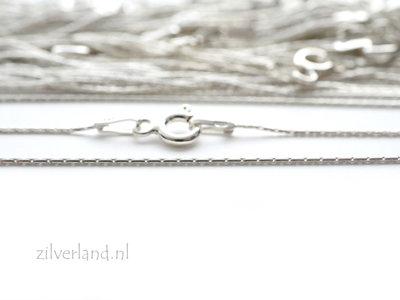 0,65mm Sterling Zilveren Collier Cardano- 45cm