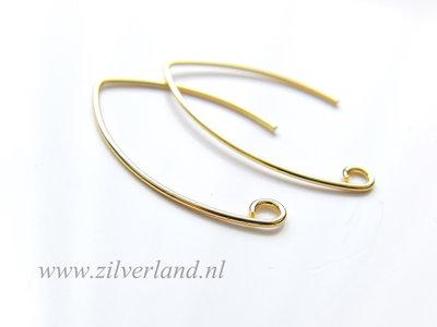 Sterling Zilveren Oorbelhaken- Verguld
