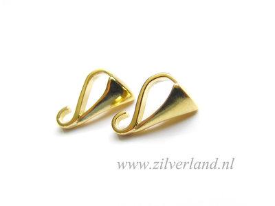 1 Stuk Sterling Zilveren Hangeroog- Verguld