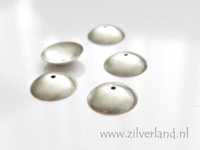 1 Stuk 13mm Sterling Zilveren Kralenkapje- Geborsteld