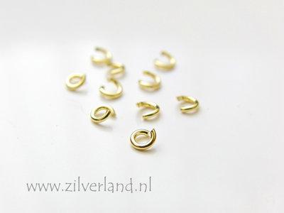 10 Stuks 0,75x3,30mm Sterling Zilveren Montagering- Verguld