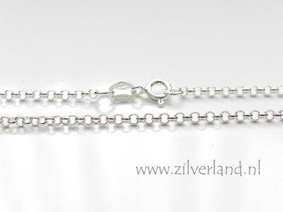 2,0mm Sterling Zilveren Collier Rolo- 45cm