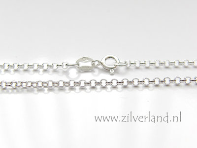 2,0mm Sterling Zilveren Collier Rolo- 50cm