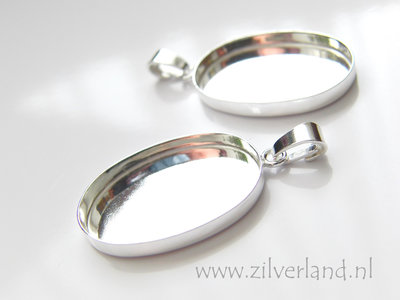 25mm Sterling Zilveren Hanger voor UV Hars/Resin of Cabochons