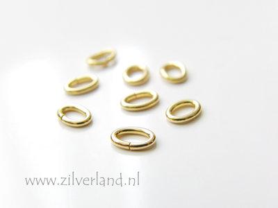10 Stuks 6x4mm Sterling Zilveren Montagering- Ovaal Verguld