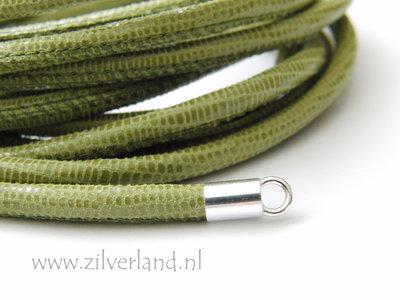 20cm Gestikt 4mm Leerkoord- Lizard