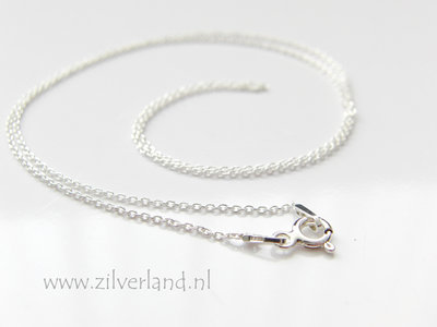 1,0mm Sterling Zilveren Collier Anker- 45cm