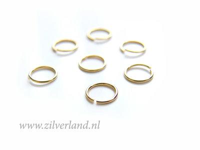 10 Stuks 0,60x6,10mm Sterling Zilveren Montagering- Verguld