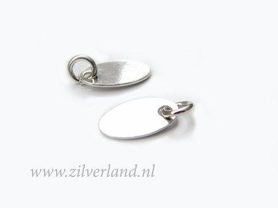 Gerhodineerd Sterling Zilveren Graveerplaatje, Logo Bedel, Sieraden Bedel, Naamlabel